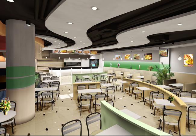 快餐连锁店设计案例_快餐店_餐饮设计专业餐饮设计师