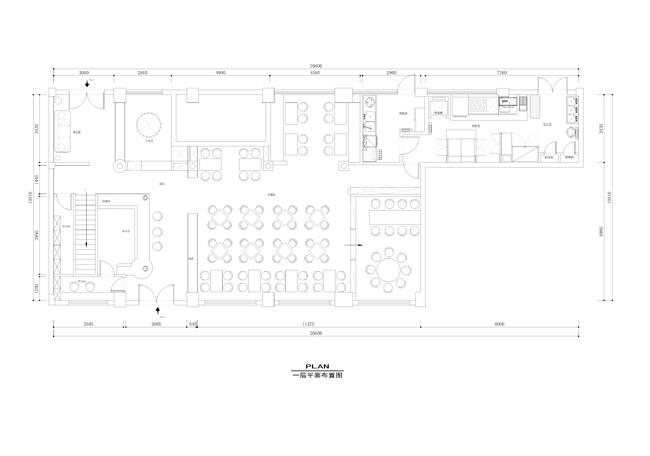 某牛排馆西餐厅设计施工图带效果图