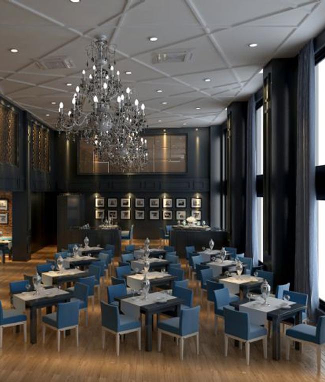西餐廳門頭設計和室內設計