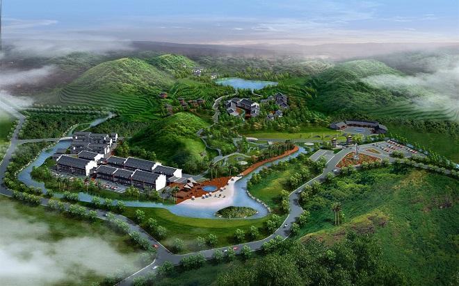 东南亚风景园林这里山,河,湖,溪与绿树鲜花交相辉映,南亚热带自然风光