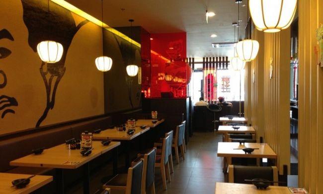 杭州时尚悠味面馆设计(浙江)_上海餐厅设计案例面馆_.