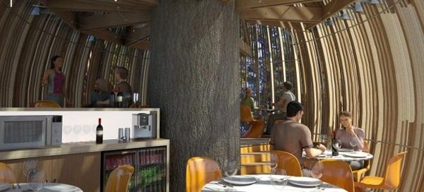 """设计师的奇思妙想-美妙的""""树上餐厅"""""""
