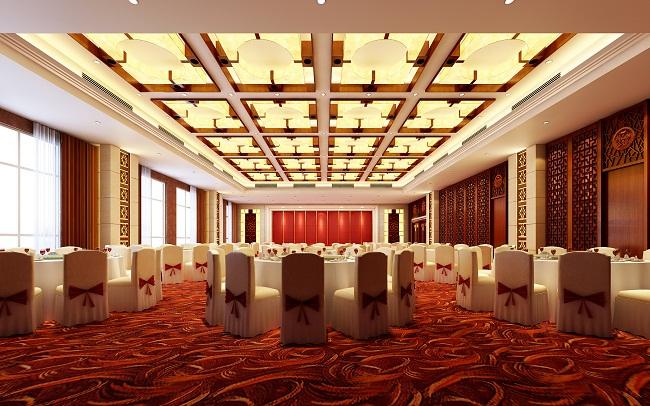宴会厅设计效果图方案(湖北)