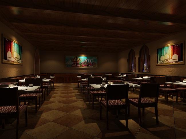 长寿路孜然尔燃烧烤餐厅设计案例