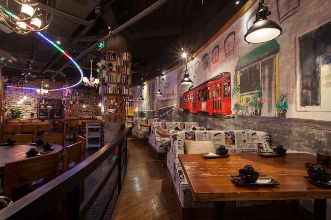 """""""年代秀""""主题餐厅设计案例(上海)"""