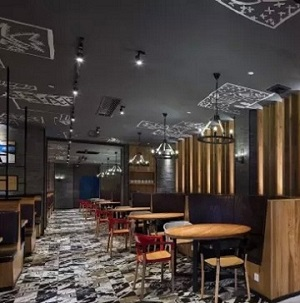 """""""花美城""""创意复古餐厅设计(广东)"""