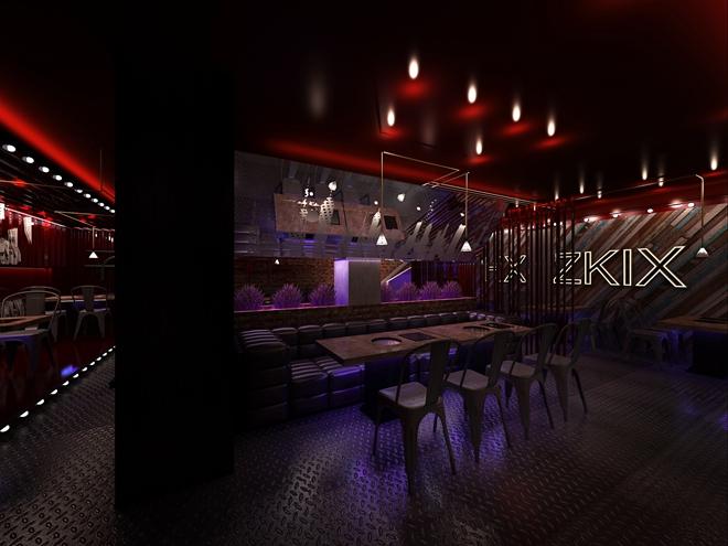 """纽约""""HX""""火锅烧烤餐厅设计案例(美国)"""